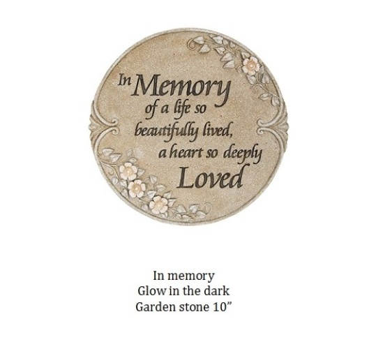 In Memory Garden Stone glow in the dark