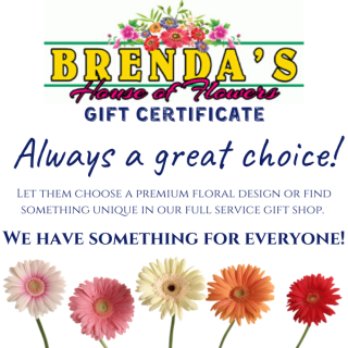 Brenda\'s House of Flowers Gift Certificate