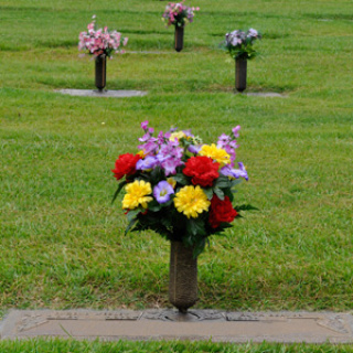 Silk Gravesite Urn Arrangement